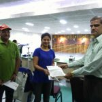 SVJCT Sports committee members invited India's ace shooter Anjali Bhagwat for Dervan Youth Games.